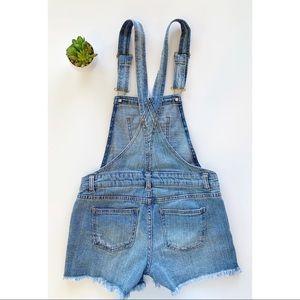 Vanilla Star | Denim overall shorts Sz M